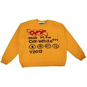 Nwt Off-white C/o Virgil Abloh Yellow Industrial Knit Sweater Size M 1820