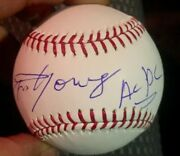 Angus Young Ac/dc Signed Official Mlb Baseball