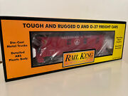 Mth Rail King Tough And Rugged O-o27 Baltimore And Ohio Wood-sided Caboose. 30-7723