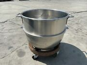 Hobart Stainless Steel 60-quart Mixing Bowl Vmlh-60 With Dolley Rolling Cart