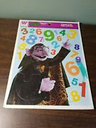 Rare 1976 Whitman Sesame Street Frame-tray Puzzle Count With The Count - 7436b