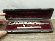 Vintage1967 Wm.s Haynes And Co Solid Silver Piccolo Flute Boston ☆with Orig Case☆