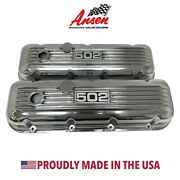 Big Block Chevy 502 Valve Covers - Polished, Classic Finned- V3, Made In Usa