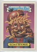 1988 Topps Garbage Pail Kids Series 15 Slimy Hymie Complete Puzzle Back 0c6