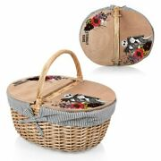 Picnic Time Nightmare Before Christmas Jack + Sally Flower Country Picnic Basket