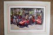 Ferrari Very Rare Collectible Alan Fearnley Print And039practice Overand039 300/500