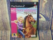 Barbie Horse Adventures Wild Horse Rescue Playstation 2 Game With Manual