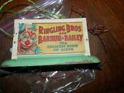 Ringling Bros Barnum Bailey Circus Collectibles Light Up Sign From 1949 Railroad