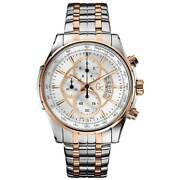 Guess Collection Men's Watch Chronograph Silver And Rose Gold Dial X81003g1s