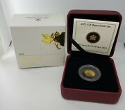 Canada 2012 Farewell To The Penny 1/25 Oz. Gold .9999 Proof Coin