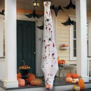 Halloween Decorations 72 Inch Hanging Cocoon Corpses Props Red Glowing Eyes