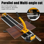 Professional Yellow Manual Tile Cutter Porcelain Floor Tiles Cutting Machin 32in