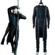 Vergil Aged Cosplay Costume Devil May Cry 5 Halloween Convention Party Outfit