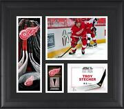 Game Used Troy Stecher Canucks Puck Collage Fanatics Authentic Coa Item11102769