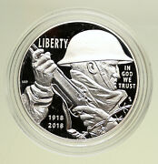 2018 P United States Us World War I Centennial Proof Silver Dollar Coin I95100