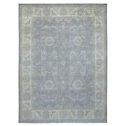 8and03910x11and03910 Silver Wash Peshawar Subtle Design Hand Knotted Wool Rug R68741
