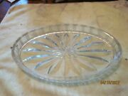 C.1950 Pressed Glass {clear} Dresser Tray Or Card Receiver Chip Free