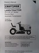 Sears Craftsman Lt2000 23.0 Hydro 42 Lawn Tractor Owner Andparts Manual 917.275520