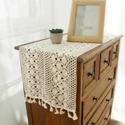 Vintage Hand Crochet Lace Table Runner Mats Doilies Wedding Party Home Decor