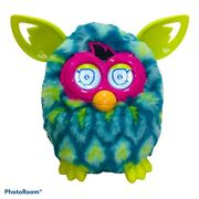 2012 Furby Boom Peacock Teal Aqua Turquoise Neon Yellow Pink Interactive Toy
