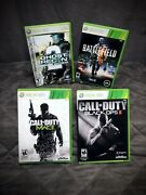 Xbox 360 -4 Game Lot / Call Of Duty / Ghost Recon 2 / Battlefield 3