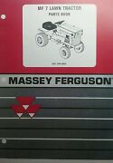 Massey Ferguson Mf 7 Lawn Garden Tractor And Implements Parts Catalog Manual Hp