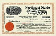 131 Northwest Divide Mining Company - Owned By Prominent Nevadian Cada C Boak