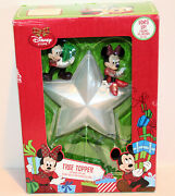 2013 Disney Store Mickey And Minnie Light Up Star Christmas Tree Topper New In Box