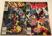 Lot Of 2 Uncanny X-men Issues 261 And 262 Marvel Comics Vintage 1990 Wolverine