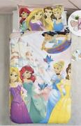 Disney Princess Reversible Dube Cover Pillow Cases From Japan No.881