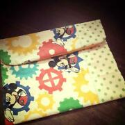 Limited To Multi Pouch Of Vintage Mickey Fabric On Pen Case Mother And No.4569