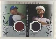 2021 Artifacts Match Play Dual Relics /49 Tiger Woods Abraham Ancer Rookie