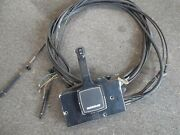 Oem Quicksilver/mercury Side Mount Remote Control W 15and039 Sterring Cable - Used
