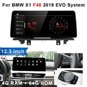 12.3'' For Bmw X1 F48 2018 Evo Android Car Stereo Gps Bt Player 4+64gb Bluetooth