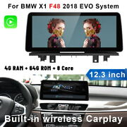 For Bmw X1 F48 2018 Evo 12.3'' Car Stereo Gps Dvd Player Touch Screen Bt Radio