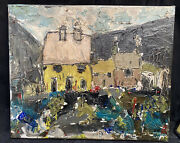 1970s Welsh Expressionist Oil Painting Industrial Landscape Signed Kw