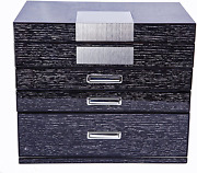Large Wooden Jewelry Armoires 4-layer Jewelry Case With Mirror Gift Box Desktop