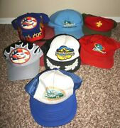 Lot Of 7 Boy Scouts Of America Bsa Hats Caps National Scout Jamboree Vintage