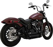 Vance And Hines Shortshots Staggered Black Exhaust For Harley Davidson 47233
