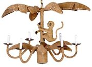 Mario Lopez Torres Chandelier Monkey And Palm Leaf Ceiling Fixture Light Will Ship
