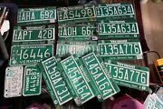 Vintage Vermont Trailer And Truck License Plate Craft Lot Of 15 Vt Green Mt State