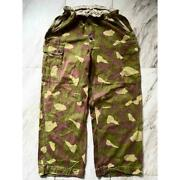 Vintage Reversible Finnish Army Green Camouflage Cargo Pants