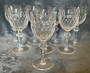 Waterford Crystal Curraghmore Pattern Goblet Glasses- Lot Of 8