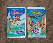 Disney Black Diamond The Rescuers And The Rescuers Down Under Vhs - Rare 2