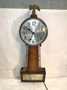 Vintage Sessions Model 2w Banjo Wall Clock Electric Brass Wood Southern Mansion