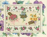 Vintage Garden Flowers Roses Nosegay Pansies Aesthetic Collage Picture Art Print