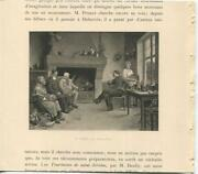 Antique Cottage Two Brothers Pipe Smoking Tea Kettle Wine Leeks Prosciutto Print