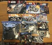 Lego Star Wars 6 Sets Lot Includes Instructions
