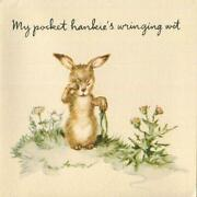 Vintage Bunny Rabbit Crying Thistle Cheer Erica Von Kager Brownie Greeting Card