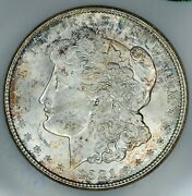 1921-d Fatty Ngc 3 And Cac Ms64 Vam-1ah R-6 Displaced Field Morgan Silver Dollar